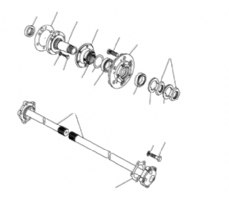 Hubs & Driveshafts Without ABS to VIN JA624516